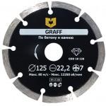 Алмазный диск турбо по бетону и камню GRAFF 125х10х2.0х22,23 мм