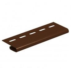 """Завершающая планка """"Ю-Пласт"""", коричневый, длина 3,05м (1 уп=20шт.)"""