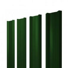 Штакетник М-образный односторонний RAL 6005 зеленый мох h=1,5 м
