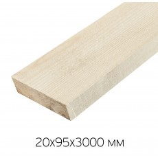 Доска сухая строганная 20х95х3000мм профилированная 1сорт (хвоя)